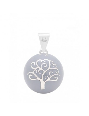 Bola Arbre de Vie couleur gris - Bijoux fantaisie chez Loona Voiron et Grenoble