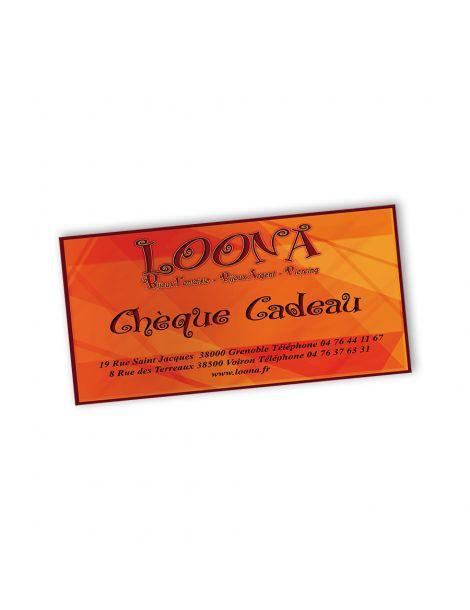 Carte cadeau - Loona vos bijouteries fantaisies à Voiron et Grenoble