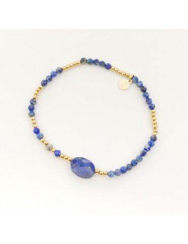 Bracelet en acier inoxydale et pierre véritale